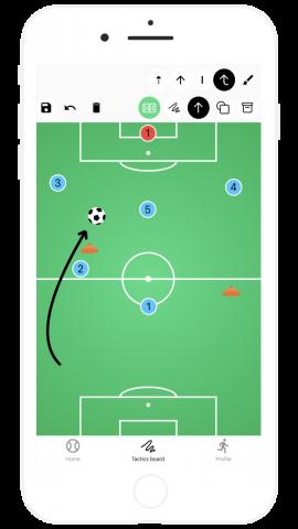 Scribble Tactics Board for Soccer Football Coach